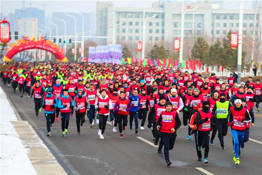 博州举办冬季城市迷你马拉松比赛